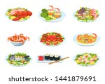 Festive Seafood Dishes Food...