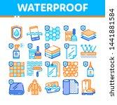 waterproof materials vector... | Shutterstock .eps vector #1441881584