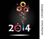 new year 2014 in black... | Shutterstock .eps vector #144188431
