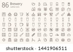 Brewery Outline Icon Dset. Was...