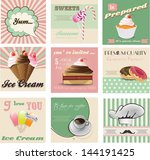 vintage labels and invitation... | Shutterstock .eps vector #144191425