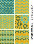 summer pattern set with... | Shutterstock .eps vector #144192514