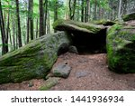 Druids Cave. Dolmen In A Fores...