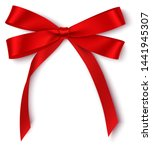 decorative red bow isolated on... | Shutterstock .eps vector #1441945307