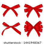 set of different red bows for... | Shutterstock .eps vector #1441948367