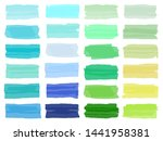 set brush stroke. brush  pen ... | Shutterstock .eps vector #1441958381