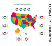 map of the united states of... | Shutterstock .eps vector #1441986761