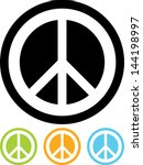 peace sign vector isolated   Shutterstock .eps vector #144198997