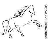 horse outline symbol vector | Shutterstock .eps vector #144199384