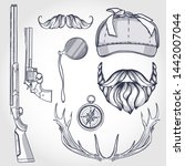 hand drawn sketch  attributes... | Shutterstock .eps vector #1442007044