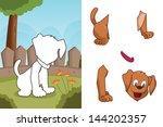 a vector illustration of dog... | Shutterstock .eps vector #144202357