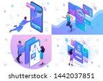 set isometric concept of user...