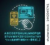 online payment neon light... | Shutterstock .eps vector #1442045741