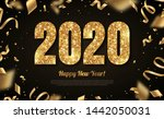 happy new year banner with gold ... | Shutterstock .eps vector #1442050031
