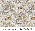 seamless paisley pattern on... | Shutterstock . vector #1442065421