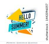 summer season ad background in... | Shutterstock .eps vector #1442096057