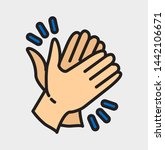 clapping hand icon seen from... | Shutterstock .eps vector #1442106671