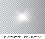 blue or white glowing light... | Shutterstock .eps vector #1442109467
