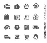 simple shopping icons. | Shutterstock .eps vector #144213517