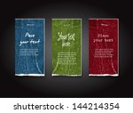 a set of vector distressed... | Shutterstock .eps vector #144214354