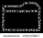glossy mesh closed folder with... | Shutterstock .eps vector #1442143817