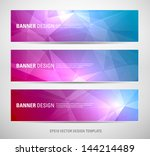 a set of modern vector banners... | Shutterstock .eps vector #144214489