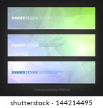 a set of modern vector banners... | Shutterstock .eps vector #144214495