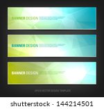 a set of modern vector banners... | Shutterstock .eps vector #144214501
