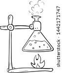 handdrawn chemical reaction...   Shutterstock .eps vector #1442171747