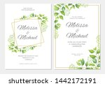 wedding invitation with green... | Shutterstock .eps vector #1442172191