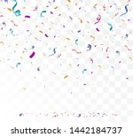 lots of colorful tiny confetti... | Shutterstock .eps vector #1442184737