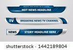 vector of broadcast news lower... | Shutterstock .eps vector #1442189804