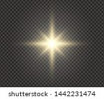 white glowing light explodes on ... | Shutterstock .eps vector #1442231474