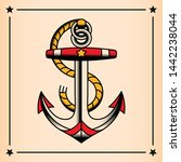 vector old school style tattoo... | Shutterstock .eps vector #1442238044