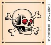 vector old school style tattoo... | Shutterstock .eps vector #1442238047