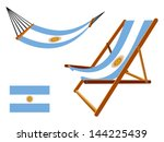 argentina hammock and deck...   Shutterstock .eps vector #144225439