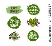 eco friendly  natural product... | Shutterstock .eps vector #1442258357