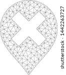 mesh closed marker polygonal... | Shutterstock .eps vector #1442263727