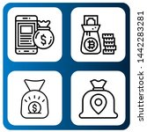 set of abundance icons such as...