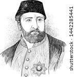 ottoman sultan abdulaziz line... | Shutterstock .eps vector #1442285441