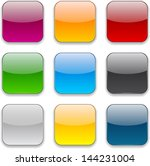 set of blank colorful square... | Shutterstock .eps vector #144231004