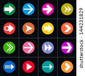 16 arrow pictogram in circle...