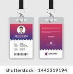 creative id card template vector | Shutterstock .eps vector #1442319194