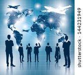 travel concept. business... | Shutterstock . vector #144231949