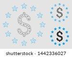 mesh dollar stars model with... | Shutterstock .eps vector #1442336027