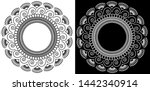 circles  lines  spiral and... | Shutterstock .eps vector #1442340914