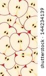 fresh juicy red apples pattern  ... | Shutterstock .eps vector #144234139