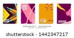 abstract universal grunge art... | Shutterstock .eps vector #1442347217