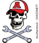 skull cap   Shutterstock .eps vector #144234877