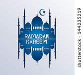 ramadan background paper art... | Shutterstock .eps vector #144235219